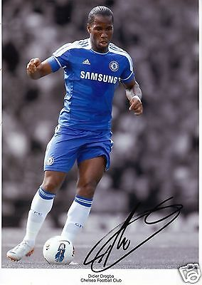 Didier Drogba Chelsea Football Soccer Signed Autographed A4 Photo Print Poster