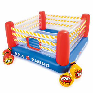 Intex Inflatable Jump-O-Lene 89 Inch Play Boxing Ring Bouncer For Kids Ages 5-7