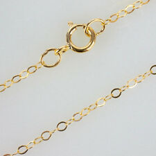 18 Inch 14K Gold Filled Cable Chain Necklace W/ Spring Clasp and Closed Rings