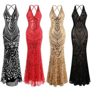 Angel-fashions-Women-039-s-Halter-Pattern-Sequin-V-Neck-Sheath-Evening-Dress-381