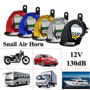 Details about 12V Universal Waterproof Loud Snail Air Horn Siren 130dB For  Truck Motorcycle AU