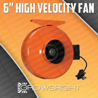 6 Inch Hydroponics Inline Duct Fan Exhaust Blower Vent
