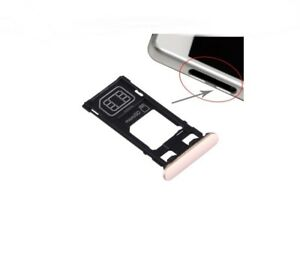 Fach Unterstützung Brieftasche Karte Single SIM Und Micro SD Sony Xperia X Rosa
