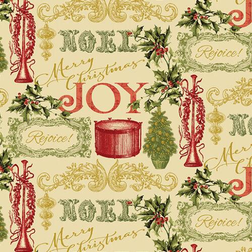 1663m-70 1 Half Metre Length Florentine Christmas Print Fabric