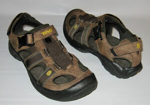 96ba92ee5a2ea Image is loading NEW-TEVA-OMNIUM-SANDAL-BROWN-LEATHER-WATER-TRAIL-