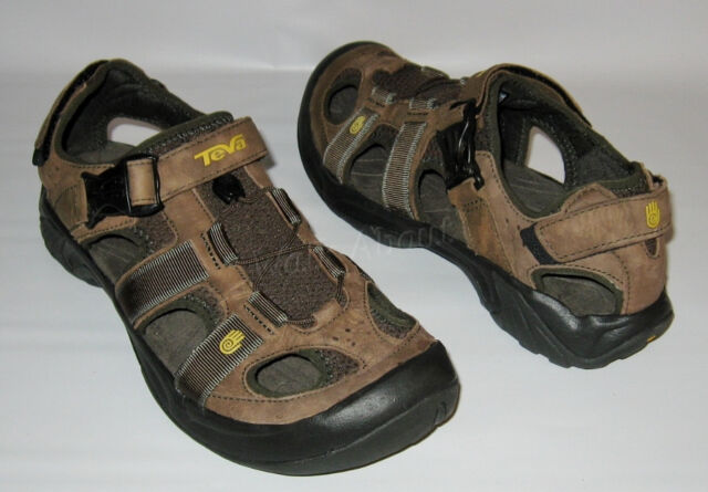 8c5d733be477b NEW TEVA OMNIUM SANDAL BROWN LEATHER WATER TRAIL HIKING SHOES SANDALS MENS 9