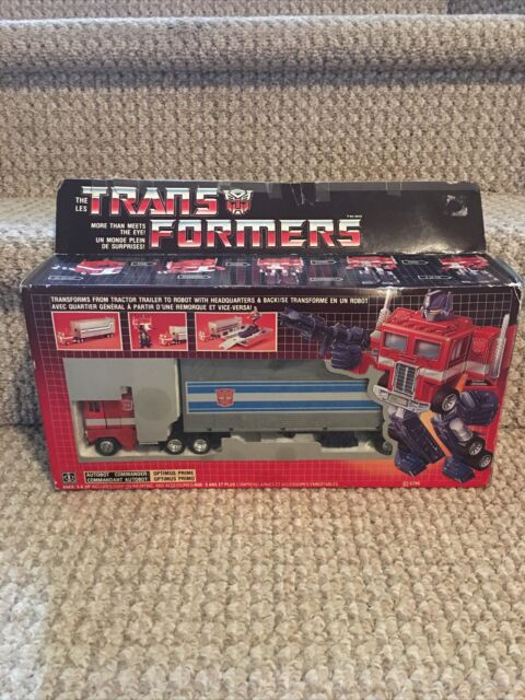 Transformers G1 Optimus Prime 100% Complete Canadian Version Rare