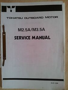 TOHATSU M2.5A M3.5A SERVICE MANUAL OUTBOARDS AUSSENBORDER - Deutschland - TOHATSU M2.5A M3.5A SERVICE MANUAL OUTBOARDS AUSSENBORDER - Deutschland