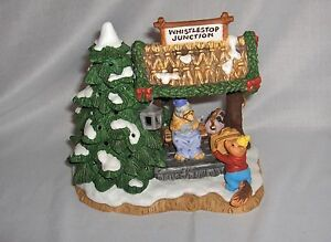 Fitz-amp-Floyd-Whistlestop-Junction-Figurine-Holiday-Hamlet-1994-RARE