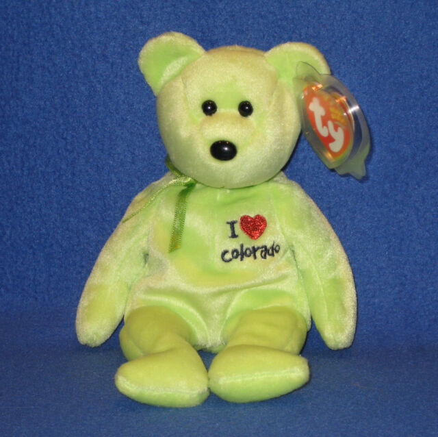 Ty Beanie Baby Bear I Love Colorado W Proected Tag in Cond for sale ... 626e1288b56b