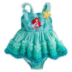 2f2e6d024b Details about Disney Store Princess The Little Mermaid Ariel 1PC Deluxe  Swimsuit Girl Size 5 6