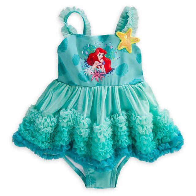 NEW Toddler Girls/' Disney Princess Ariel One Piece Swimsuit  Size 2T