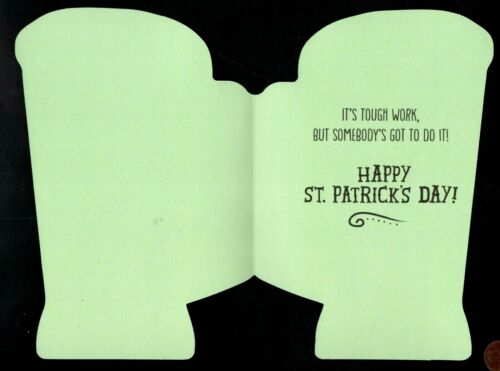 St Patrick/'s Day Greeting Card Patrick/'s Day Irish Green Beer Mug Foam