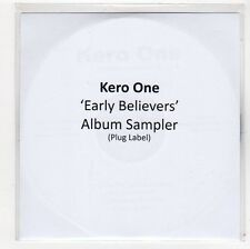 (FC634) Kero One, Early Believers 3 track sampler - 2009 DJ CD