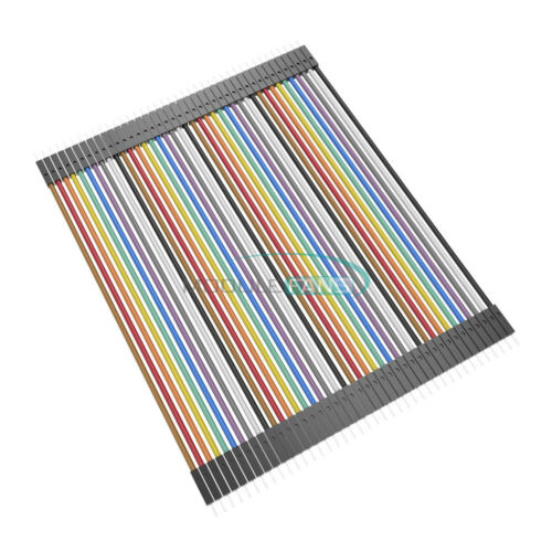 40pcs Male to male Dupont Wire Cables Jumper 10cm 2.54MM 1P For Arduino  MF