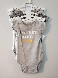 NWT 5 BABY GIRL CARTER'S BODYSUITS SIZE NEWBORN