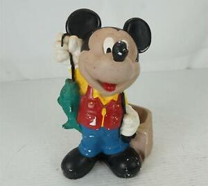 VTG Disney Mickey Mouse The Fisher & Basket Porcelain Ceramic Figurine -12 Inch