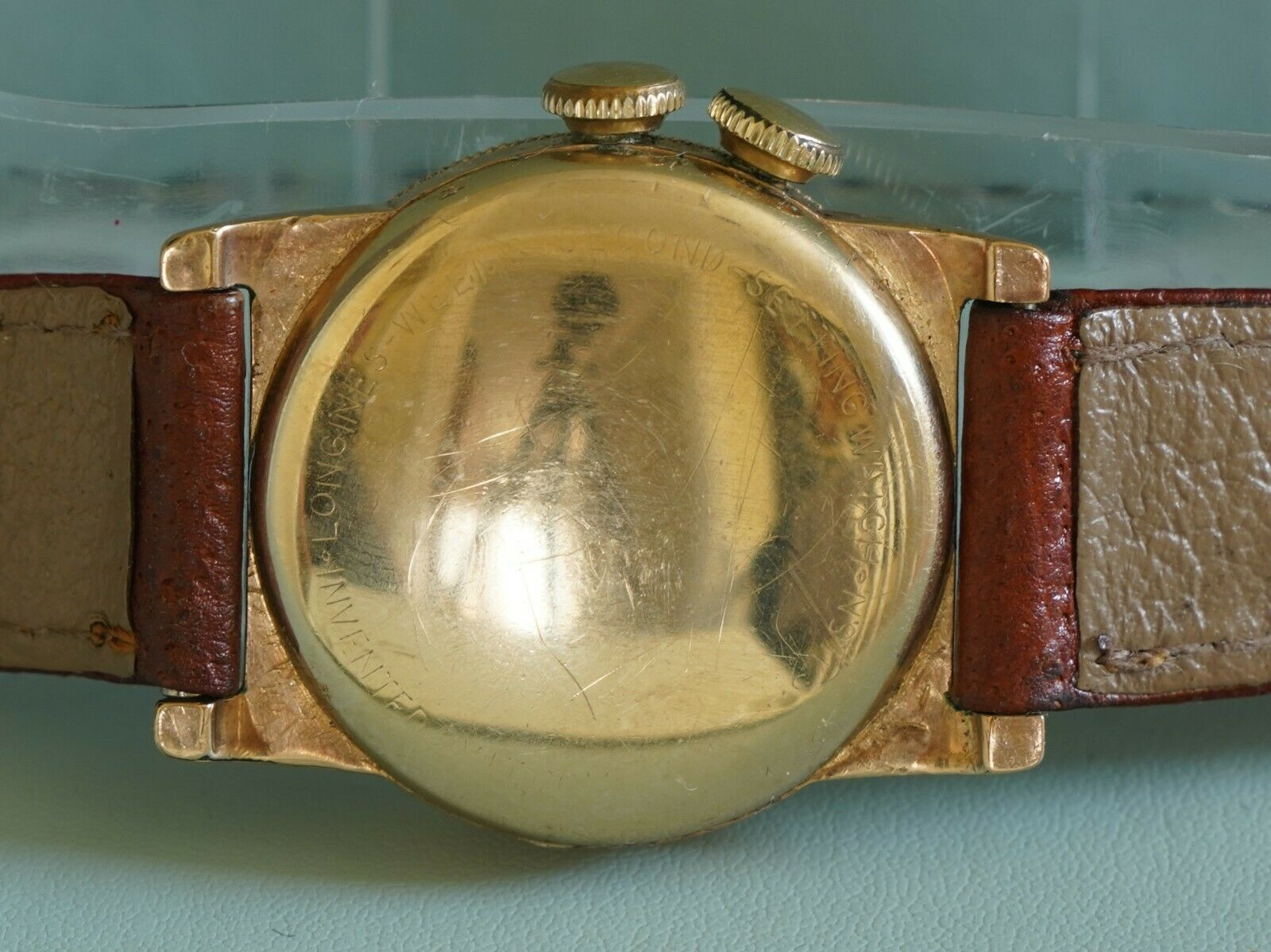 """Image 21 - Longines c. 1941 """"Weems"""" USAF/RAF Military/Pilot Watch Gold Plated - Working"""