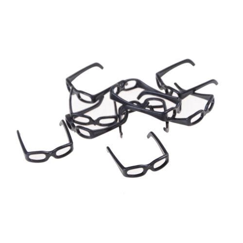 10pcs//set Fashion Doll Accessories Black Glasses For  Doll  HIsa
