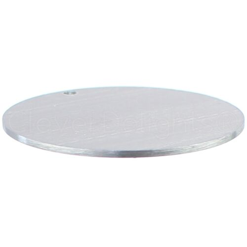 "50 Pk Raw 2/"" Round Aluminum Stamping Blanks 3mm Hole 14 GA"