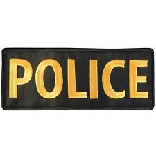 POLICE large XL 10x4 inch subdued ACU embroidered badge SWAT tag fastener patch