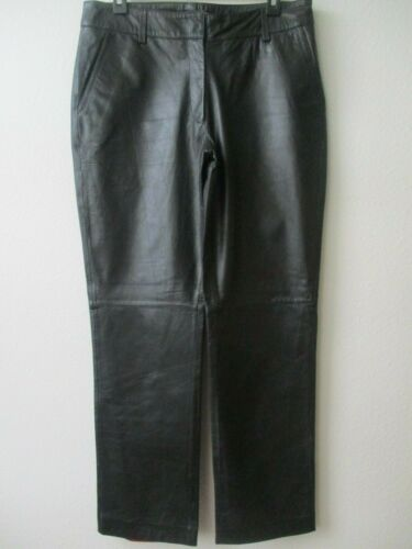 TOMMY HILFIGER BLACK LEATHER FULLY LINED PANTS SIZ