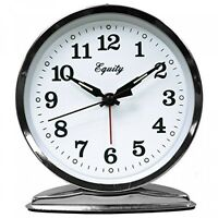 Equity 24014 Silver Tone Wind-Up Alarm Clock Home Furnishings on Sale