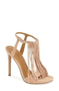 8e2adfb0fe6 Details about New Kendall + Kylie Jenner Kardashian Aries Fringe Shoes  Suede Beige Tan 6