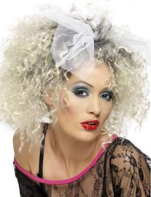 80s 1980s Wild Child Streaked Fancy Dress Wig Madonna 1980/'s by Smiffys New