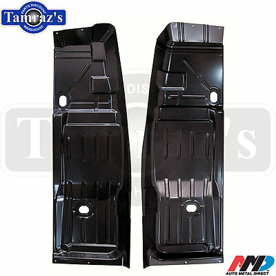 68-74 X-Body Floor Pan Front to Rear Half Sections to Firewall - PAIR - AMD