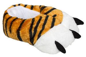 Witzige Tiger-Hausschuhe Tierhausschuhe für Damen und Herren Gr. 36/37 - 44/45