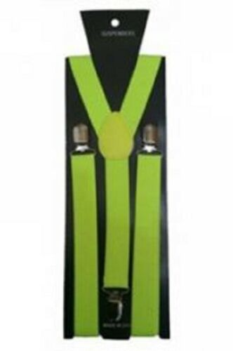 New ADJUSTABLE BRACES UNISEX TROUSER ELASTIC Y-BACK SUSPENDERS CLIP-ON Braces