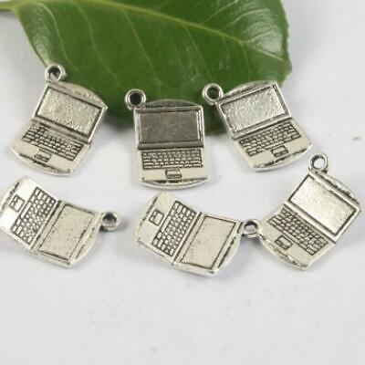 10pcs Tibetan silver laptop design pendant h0587