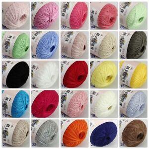 Sale-1ballx50g-New-Soft-Cotton-Lace-Thread-Yarn-Crochet-Lace-Jewelry-Knitting