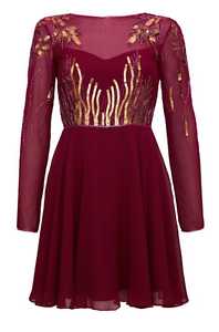 Virgos Lounge Pink Jasmine Embellished Mini Bridesmaid Wedding Dress 6 - 16 New
