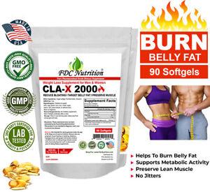 CLA Belly Fat Burner Pills - Stomach Weight Loss Supplement for Men & Women