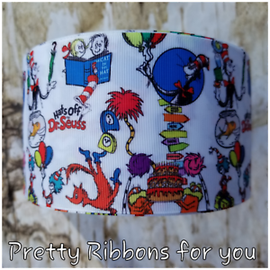 """cartoon 3/"""" wide grosgrain ribbon the listing is for 2 yards"""