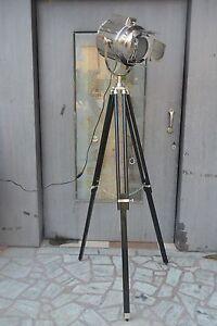 Decorative Floor Lamp Vintage Black Tripod Lighting Searchlight Retro Spotlight Ebay