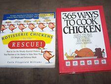 Set of 2 Chicken Cookbooks in Great Shape, Rotisserie Chicken Recipe MSRP $30.00