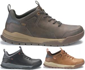 CAT CATERPILLAR Urge en Cuir Sneakers Baskets Chaussures pour Hommes Nouveau