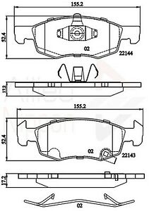 Allied-Nippon-Front-Brake-Pad-Set-ADB32301-BRAND-NEW-5-YEAR-WARRANTY