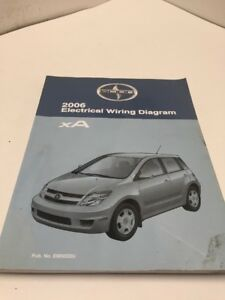 2006 Toyota SCION XA OEM Factory Electrical Wiring Diagram ...