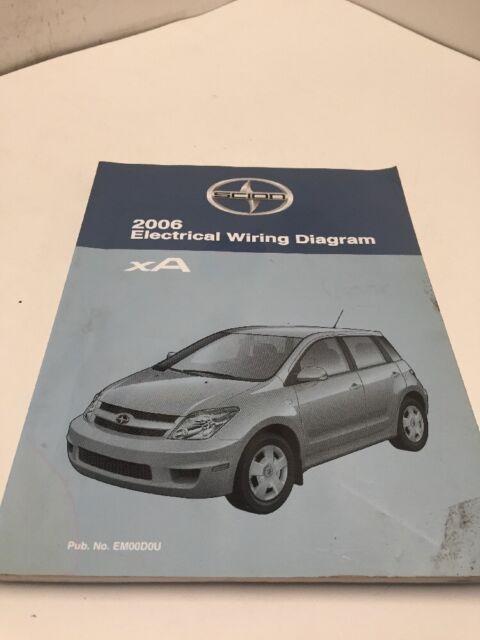 2006 Toyota Scion Xa Oem Factory Electrical Wiring Diagram