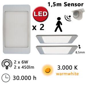 Dettagli su Lampada LED Sottopensile Sensore Movimento Pannello Luce Cucina  Slim PAM12