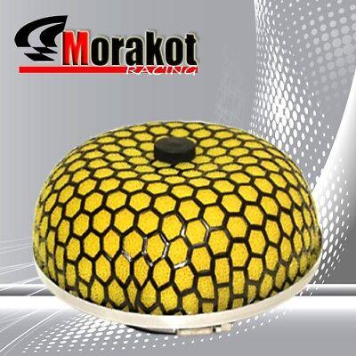 "Microfoam Universal 3/"" 76MM Mushroom Short /& Cold Air Turbo Intake Filter Yellow"