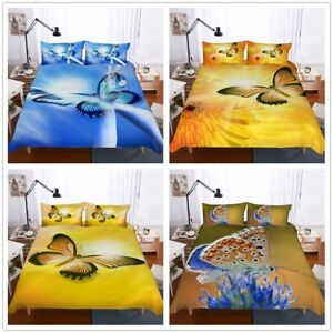 3D-Chrysanthemum-Butterfly-Bedding-Set-Duvet-Cover-Pillowcase-Comforter-Cover