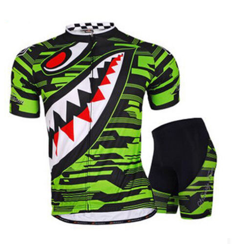 Cycling Jersey Kits for Men 3D Lycra Bicycle Shorts Sun Protection Arm Covers