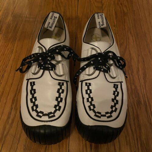 Dr. Martens Vintage White Black Checkered Lace Up