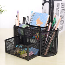 Desk Metal Organizer Mesh Storage Desktop Office Pencil Holder Container Tray