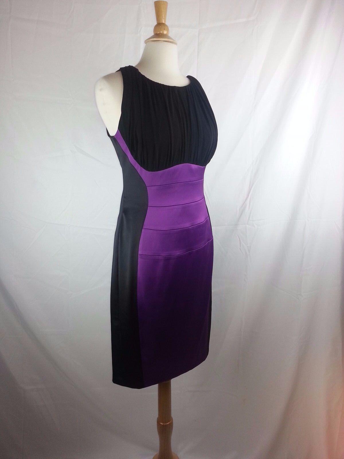 Chaya Woherren lila & schwarz Sexy Dress Größe 10 Poly Spandex